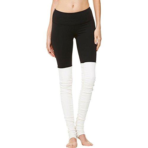 Alo Yoga Damen Goddess Leggings, Schwarz/Natur, Groß