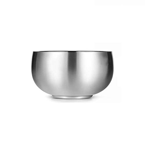 KNDJSPR Hochwertige Schüssel aus gebürstetem Edelstahl, vakuumisolierte und verbrühungshemmende Schüssel, geeignet zum Kochen, Backen und Aufbewahren von Lebensmitteln