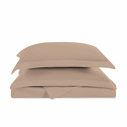 "Cozy Comfort Bedding Super King California King Oversized 3 Piece Duvet Cover Set (120"" x 98"") (Warm Taupe)"