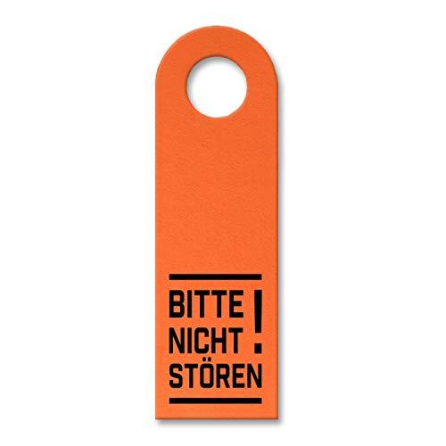 trendaffe - Bitte Nicht stören! Türhänger in Orange Bürotüre Zimmertüre Geschäft Privat Büro