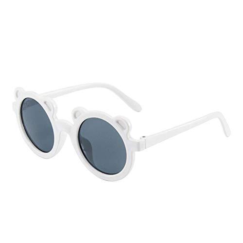 Perfeclan Nuevo Encantador Oso Forma Moda niños Gafas de Sol para niños niñas Eyeware Fiesta Exterior UV400 - Blanco