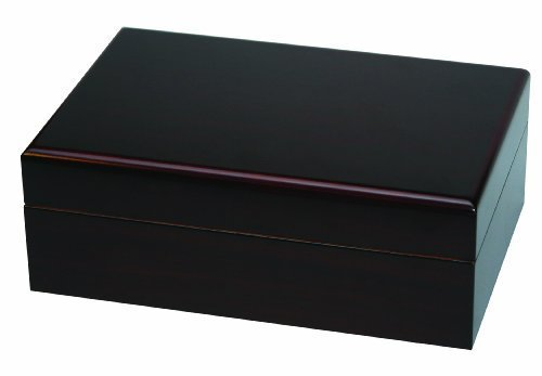 Quality Importers Traveler 10 Mahogany Travel Humidor for 10 Cigars, with SureSeal Lid Technology