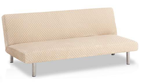 Bartali Stretch Sofabett-Husse klick-klack Olivia - Farbe Elfenbein - Standard Maß (von 170 bis 205)