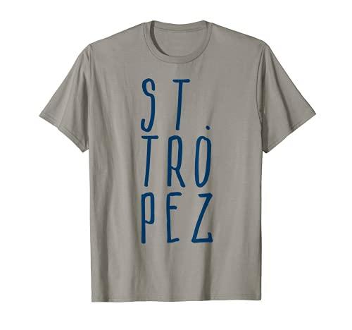 Saint Tropez Mittelmeer Südfrankreich Reise Yacht Urlaub T-Shirt