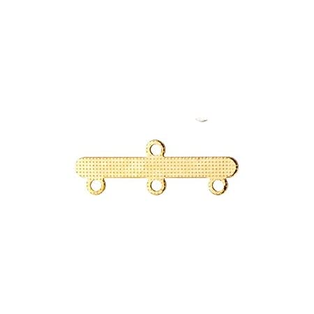 20Pcs Gold Finished Multi 3 Strand End Bar Clasps 18x8mm