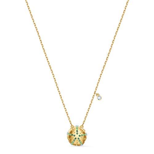 Swarovski Pendente Shine Urchin, Verde, Placcato Colore Oro