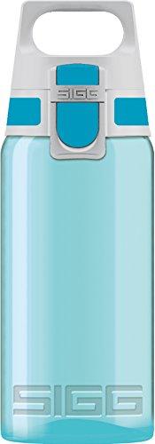 SIGG VIVA ONE Aqua Kinder Trinkflasche (0.5 L), schadstofffreie Kinderflasche mit auslaufsicherem Deckel, einhändig bedienbare Sporttrinkflasche
