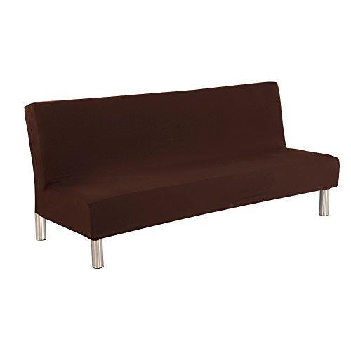 aneil sofá cama funda color sólido pantalla funda protectora plegable de todo incluido elástico sin reposabrazos