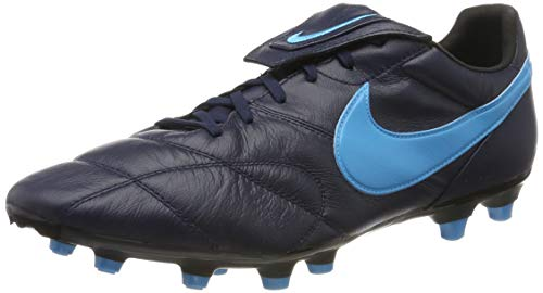 Nike The Premier II FG, Scarpe da Calcio Unisex Adulto, Nero (Obsidian/Lt Current Blue/Black 440), 43 EU