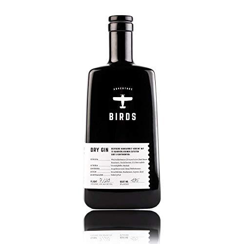 BIRDS Dry Gin - Frischer Deutscher Handmade Gin mit Basilikum, Zitrus und Ingwer - Handgefertigt mit 15 Zutaten aus 5 Kontinenten (0,5l)
