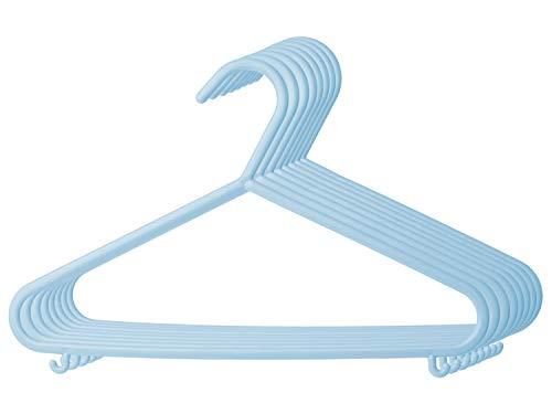 Bieco Kleiderbügel Kinder 8 St Trend Blau | Länge ca 30cm | Baby Kleiderbügel | Kunststoff Kleiderbügel Kinder Baby | Baby Organiser Für Kleiderschrank | Kleiderbügel Baby | Baby Clothes Hangers