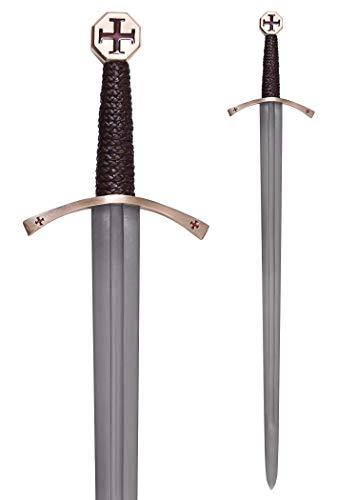 Templer-Schwert mit Scheide Kreuzfahrerschwert Ritter Mittelalter - 7