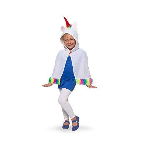 Folat 64083 Umhang Einhorn Unicorn Cape Fasching Karneval für Kinder, Einheitsgröße