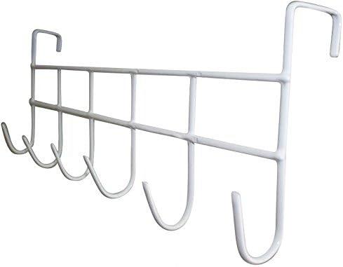 Wuuycoky Plastic Over The Door Hook Door Hanger Color Gray Pack of 6