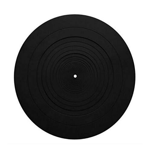 Plattenspieler-Matte aus Gummi Antistatische Plattenspieler-Plattenteller-Matte aus Gummi für Plattenspieler, LP-Player Schützen Sie Ihr Vinyl vor statischer Aufladung und Staub