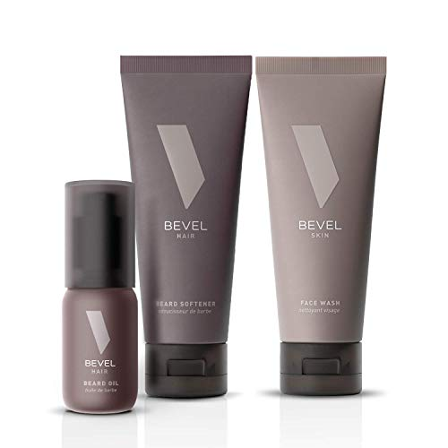 Beard Care Kit for Men by Bevel - Includes Face Wash with Tea Tree Oil, Beard Oil, and Beard Conditioner, Clinically Tested to Moisturize, Add Shine, and Prevent Frizz and Breakage