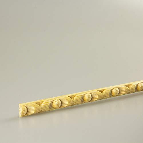 Schnitzleiste Prägeleiste Profilleiste Zierleiste Abschlussleiste Bastelleiste aus geschnitztem Kiefer-Massivholz 1500 x 10 x 5 mm