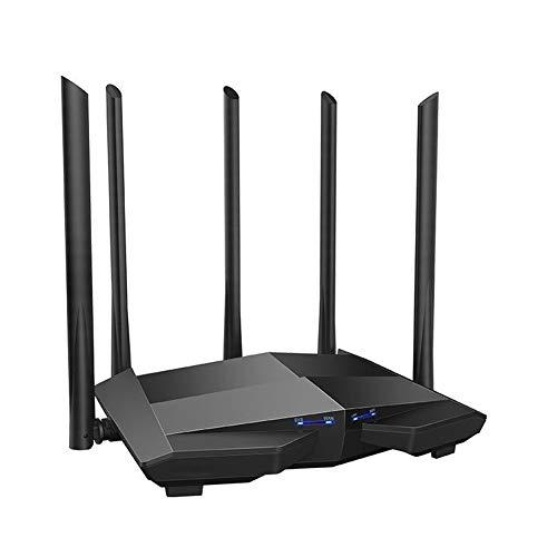 logo Router Gigabit De Doble Banda 2.4G / Repetidor Inalámbrico 5G con 5 Antenas De Alta Ganancia con 6DBI