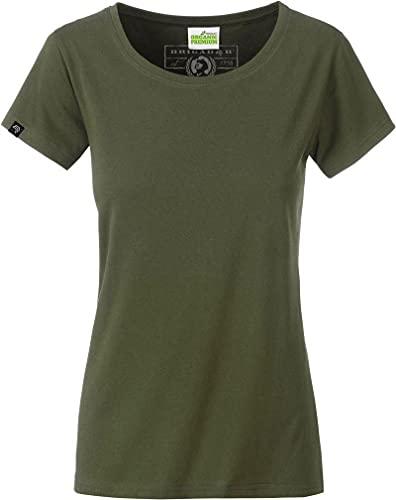 COMPANIEER JAN 8007 Damen Bio-Baumwolle T-Shirt [XL] 42 Farben Farbe Green Olive (blank), Größe XL