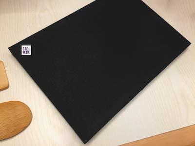 Tabla de cortar de polietileno negro, grosor 1,5 cm – Elige tu tamaño (50 x 40 cm)