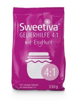 Sweetiva Gelierhilfe 4:1 mit Erythrit 330g – 95{6e8230f87e75a3c9fe312b2b064487de67dc8abe1357e288d614e4d8311393e2} weniger Kalorien   Ersatz für Gelierzucker zum Kochen von Marmelade & Gelee   Vegan & Zahnfreundlich