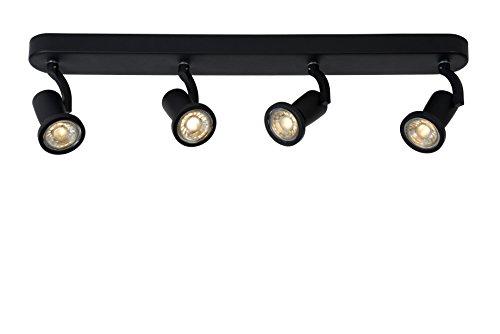 Lucide JASTER-LED - Spot Plafond - LED - GU10 - 4x5W 2700K - Noir