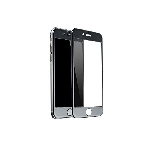 【2枚セット】 iPhone 8 Plus ガラスフィルム 全面保護 フレーム付き 強化ガラス ブルーライトカット 耐衝撃 防指紋 硬度9H 高透過率 気泡レス 自動吸着 日本旭硝子製素材 ラウンドエッジ加工 飛散防止 3D Touch対応 薄型 (ブラッ