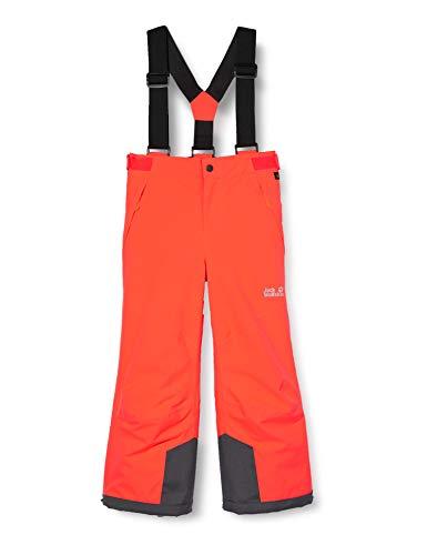 Jack Wolfskin Great Pantaloni da Neve Pantaloni da Neve per Bambini, Unisex Bambini, Flashing Red, XXS