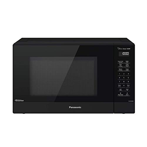 Panasonic Compact Microwave Oven with 1200 Watts of Cooking Power, Sensor Cooking, Popcorn Button, Quick 30sec and Turbo Defrost - NN-SN65KB - 1.2 cu. ft (Black) (Renewed)