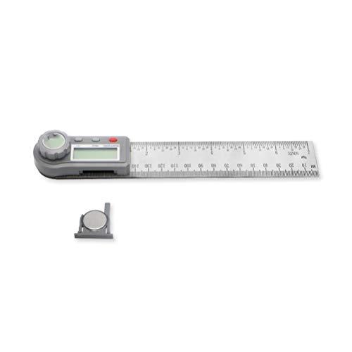 RongWang 200mm 7 Pulgadas Digital Medidor de dureza del prolongador ángulo probador de Acero Inoxidable Regla Buscador Digital inclinómetro ángulo Herramienta de medición