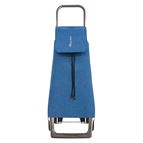 Rolser JET038 Carro de Compra 40 litros, Acrílico, Azul, 50x50x50 cm
