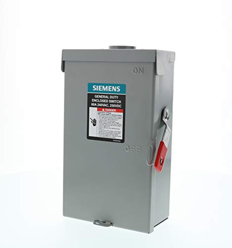 SIEMENS 3P 60A 240V General Duty Safety Switch Outdoor, Fusible