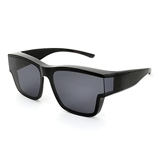 PSI Premium Oversize Sunglasses fit over glasses for Women Men, Solar Shield Sunglasses wear over Prescription glasses, Wraparound Sunglasses, UV400...