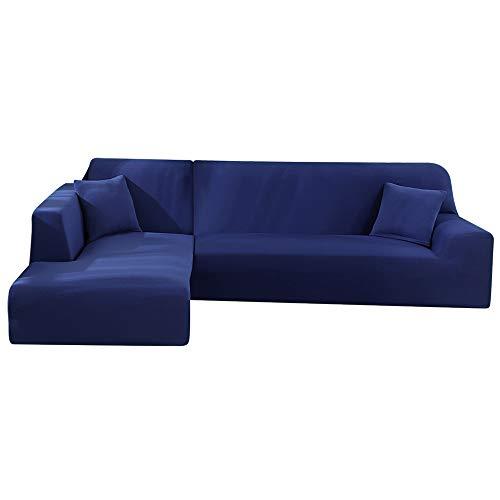 Enjoygoeu Copridivano con Penisola Elasticizzato a Forma di L Chaise Longue Sofa Cover Angolare Componibile Divano in...