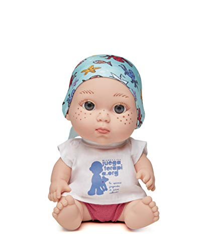 Juegaterapia Muñeco Baby Pelón, Diseñado por David Bisbal, Juguete Solidario con Olor a Vainilla - 20 x 10 x 20cm