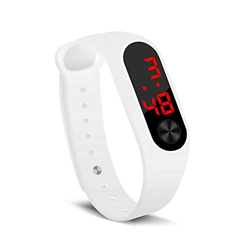 electronic watches Hand Ring Watch Led Sports Fashion Electronic Watch (White)