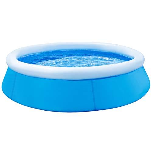 Slabo SO Pool Fast | Aufstellpool rund | Planschbecken aufblasbar | Gartenpool | Swimmingpool Schnellaufbau - OHNE PUMPE 183x51 cm