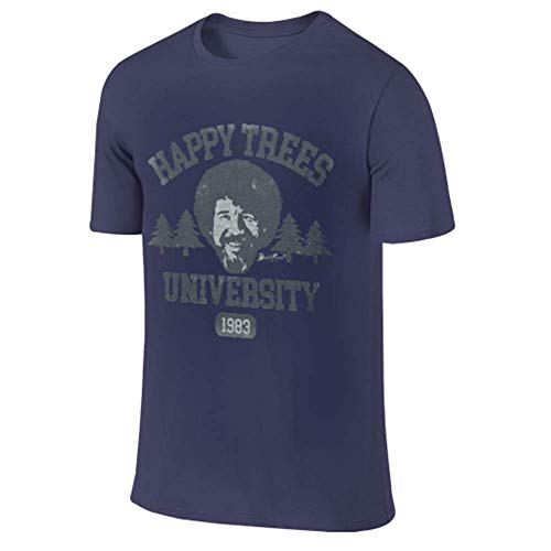Bob Ross Happy Trees University Classic Graphic T-Shirt Gr. M, Columbia Blue