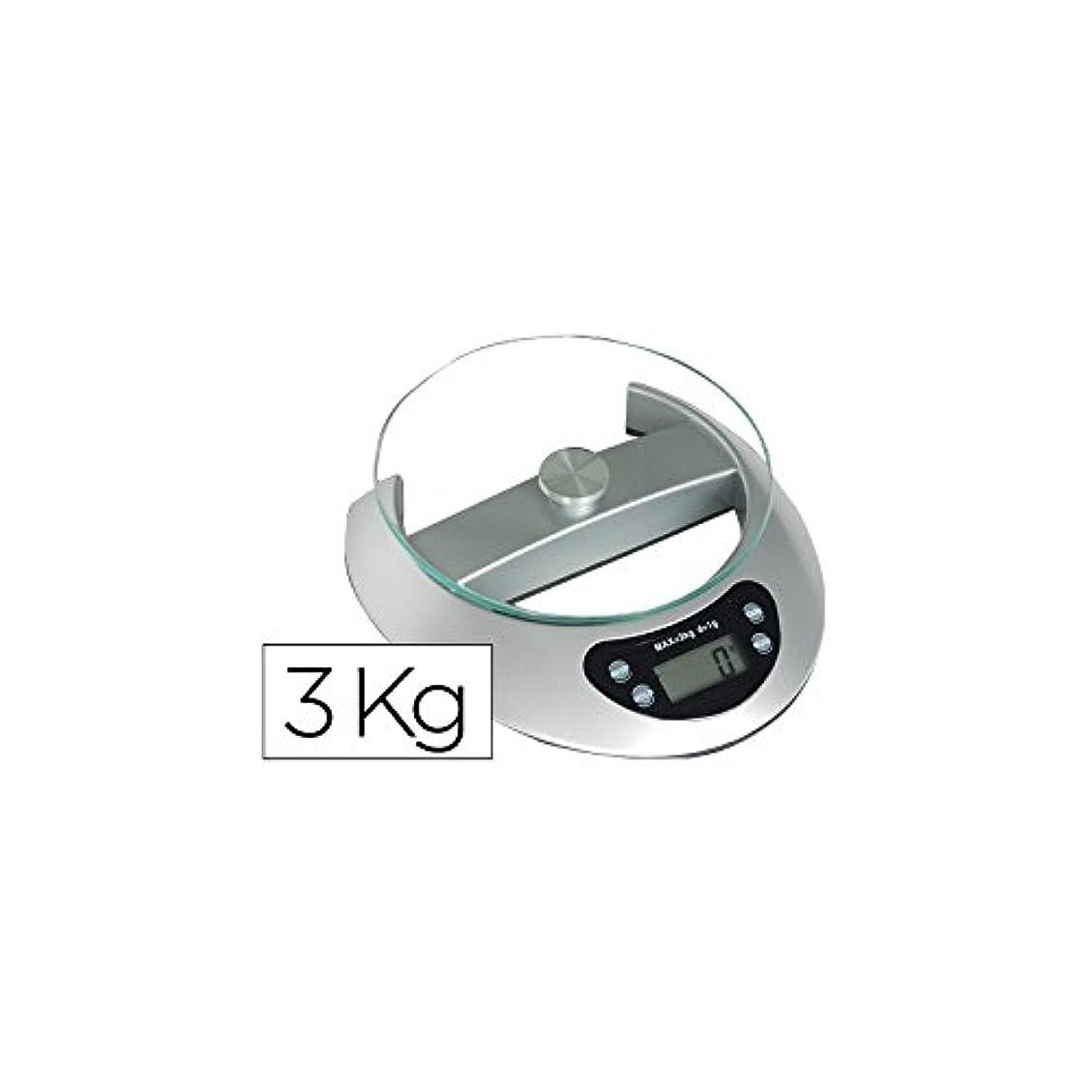メダル容赦ないレジデンスQ-コネクト936156電子レタースケール3キログラムベース19×21センチ直径17センチ強化クリスタルプラットフォーム液晶画面盛り合わせ