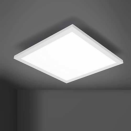 Lámpara LED de techo con panel plano, 40 x 40 cm, lámpara de techo para cocina, pasillo, dormitorio, sótano, comedor, balcón, 24 W, 1950 lúmenes, 3000 K, cuadrada, luz blanca cálida