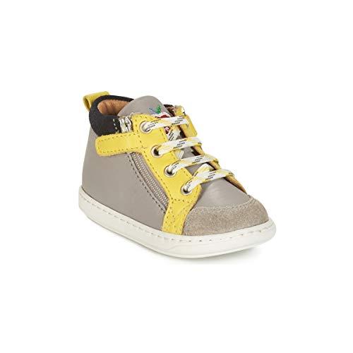 Shoo Pom Bouba BI Zip - Jasper/Velours - Grey/Lemon/Navy