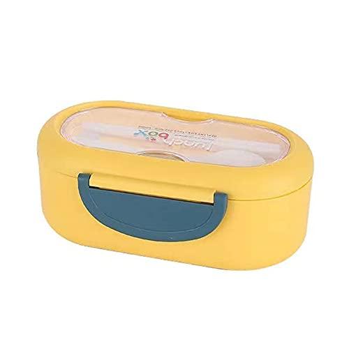 FEIGAO Bento Box,Contenedores de almuerzo de fibra de trigo, alta capacidad 1000 ml, contenedores de plástico para alimentos con tapas (20 x 10 x 8,5 cm)