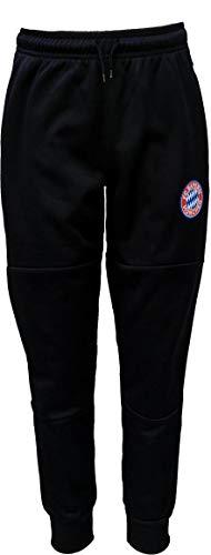 Offizieller FC Bayern Junior Jungen Jogger Style Casual Sport Hose (Marineblau, Größe S)