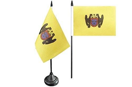 Flaggenfritze Tischflagge/Tischfahne Peru Lima + gratis Aufkleber