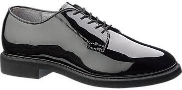Bates Lites Black High Gloss Oxford Men 8.5 Black
