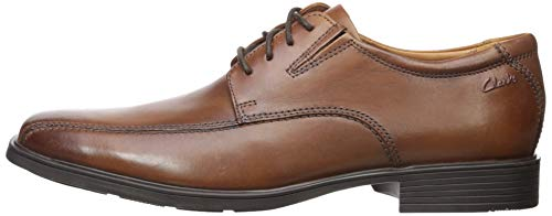 Clarks Men's Tilden Walk  Oxford, Dark Tan Leather, 10.5 W US