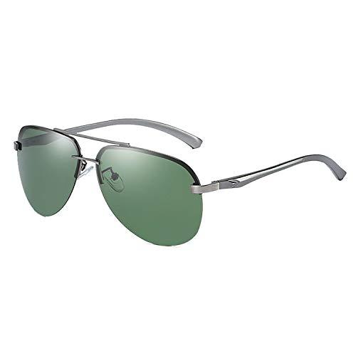 Gafas De Sol Mujer Hombre Gafas De Aviador Clásicas Gafas De Protección Polarizadas UV400 Marco De Metal Ovalado Aire Libre Golf Ciclismo Pesca Senderismo Gafas De Espejo Vintage (Color : Green)