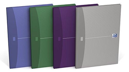 OXFORD 100105005 Gebundenes Buch Essentials 5er Pack  A4 liniert 96 Blatt Geschäftsbuch Tagebuch Kladde Journal Skizzenbuch