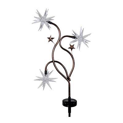 4S 91287 LED Solar Garden Stake Light, Patriotic Starburst, 33-In. - Quantity 4