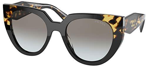 Prada Gafas de Sol MONOCHROME PR 14WS Black Blonde Havana/Grey Shaded 52/20/140 mujer